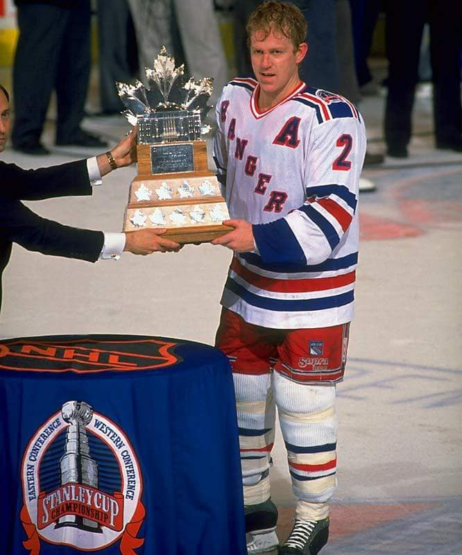 Leetch was the first American to ever win the MVP of the Playoffs (nhl)
