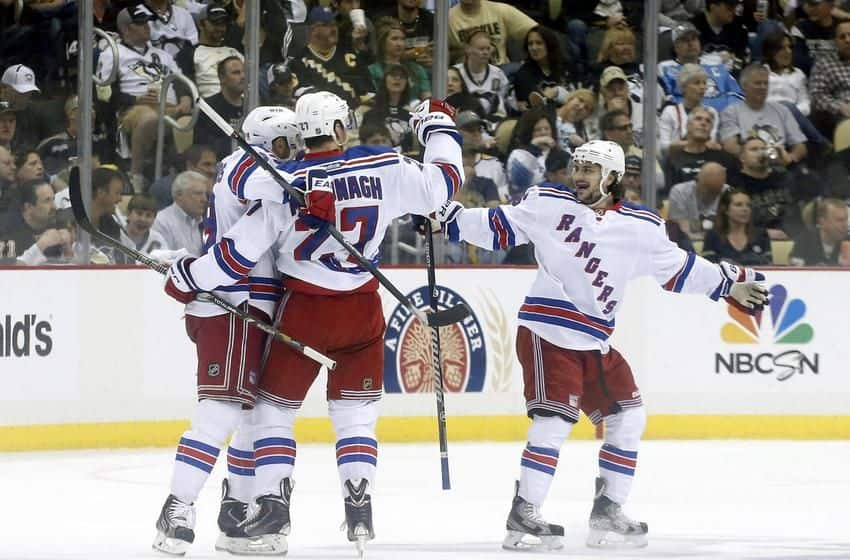 Mats Zuccarello and team celebrate (Getty Images)