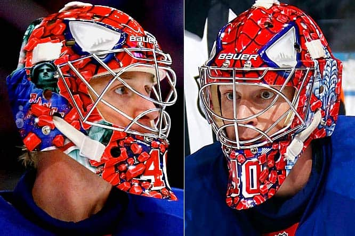 scariest rangers goalie masks
