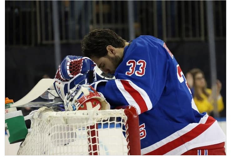 Talbot before Sunday's game (Bruce Bennett/ Getty Images)