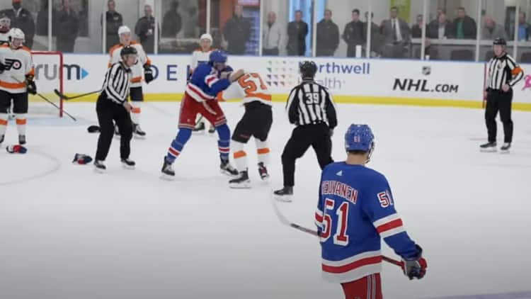 how to stream rangers flyers rookie game